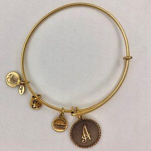 Alex and Ani Gold Finish Charm Bangle Bracelet